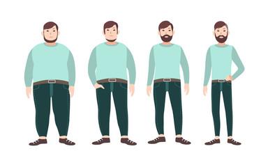 hombre con una escala con sobrepeso